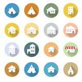 Vector of graphical urban building flat design ico Stock Photo