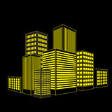 Vector of graphical urban building Royalty Free Stock Photos