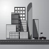 Vector of graphical urban building Stock Image