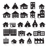 Vector of graphical urban building Royalty Free Stock Images