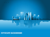 Vector of graphical urban cityscape background Stock Photo