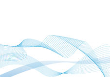 Vector graphics background. Abstract vector illustration of blue lines over a white background Royalty Free Stock Images