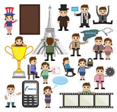 Vector Graphics of Cartoon Business Concepts. Vector Illustration of Cartoon Business Concepts Royalty Free Stock Photos