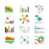 Vector graphics, charts and diagrams. Drawing infographics elements for business. Illustration of diagram and chart, graph and infographic statistic Royalty Free Stock Image