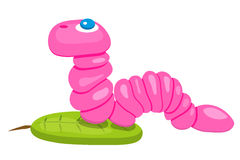 Vector graphics with a cute pink worm Royalty Free Stock Photography