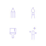 Vector graphics designer tool icon Stock Photo
