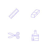 Vector graphics designer tool icon Royalty Free Stock Images