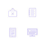 Vector graphics designer tool icon Royalty Free Stock Photography