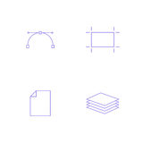 Vector graphics designer tool icon Stock Images