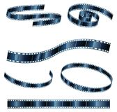 Vector Graphics of film reel in various shapes Royalty Free Stock Images