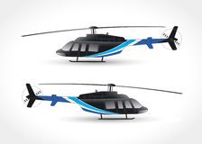 Vector graphics for helicopter. Vector illustration Royalty Free Stock Photos
