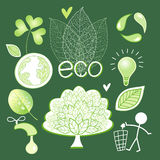 Vector graphics and icons ecology Stock Images