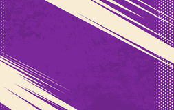 Vector Grappige Boekachtergrond Halftone achtergrond van Grunge Violette gestreepte achtergrond Royalty-vrije Stock Foto's
