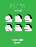 Vector Grappige Emoties Stock Foto