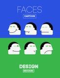 Vector Grappige Emoties Royalty-vrije Stock Foto