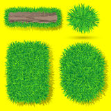 Vector grass objects Stock Photography