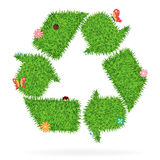 Vector grass recycle symbol. Grass recycle symbol, Ecological concept vector illustration stock illustration