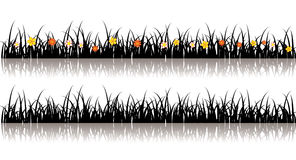 Vector grass silhouette Stock Photos