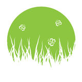 Vector grass silhouettes Stock Images
