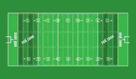 Vector Grass Textured American Football Field. Royalty Free Stock Photography