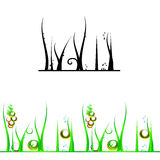 Vector grass, weeds Stock Photography