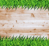 Vector grass with wood Royalty Free Stock Photography