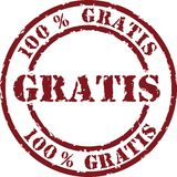 Vector gratis stamp Royalty Free Stock Photo