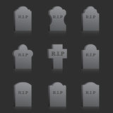 Vector Gravestones with RIP Stock Photos