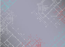 Vector Gray architectural background horizontal Stock Image