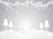 Vector gray background with snowflakes. Stock Photo