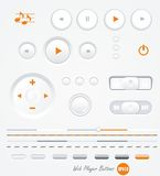 Vector gray buttons Stock Photos