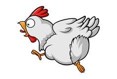 Vector Gray Cartoon Hen stock de ilustración