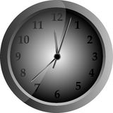 Vector gray clock Stock Photo