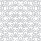 Vector Gray Fans Texture Seamless Pattern Stock Images