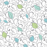 Vector Gray Green Blue Swirl Branches Leaves Stock Photos