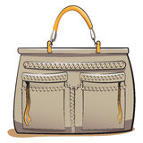Vector gray ladies handbag Stock Photo