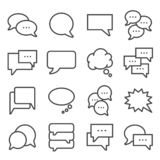 Vector gray line Speech bubbles icons set royalty free illustration