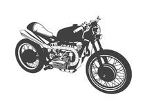 Vector gray motorbike Royalty Free Stock Photos