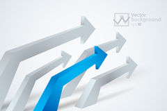 Vector gray and red 3d arrows Stock Photography