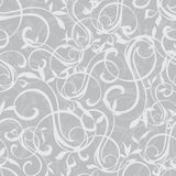 Vector Gray Swirly Texture Seamless Pattern Stock Image