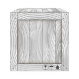 Vector of gray wooden box on white. Vector illustration of gray wooden box on white,Vector illustration Stock Images