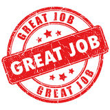 Vector great job stamp Stock Photo