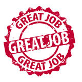 Vector great job stamp Royalty Free Stock Photo