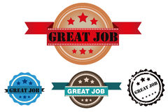 Vector great job stamp Royalty Free Stock Photography