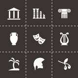 Vector greece icon set Royalty Free Stock Images