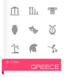 Vector greece icon set Stock Images