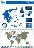 Vector Greece illustration country nation national culture conce Royalty Free Stock Image