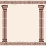 Vector Greek background. stock illustration