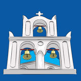 Vector. Greek church. Royalty Free Stock Photos
