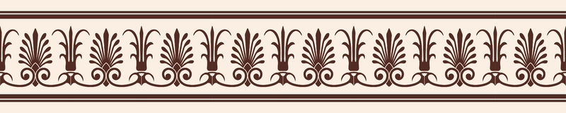 Vector Greek ornament. Greek style seamless ornament. Brown pattern on a beige background Royalty Free Stock Photography